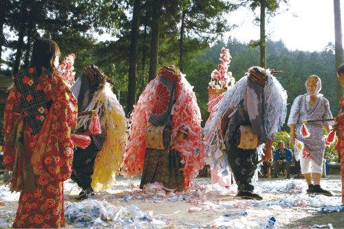 住吉神社の獅子舞