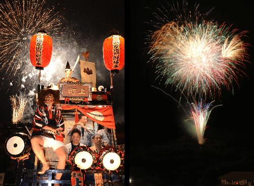越生祭りの花火