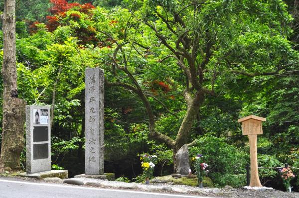 渋沢平九郎自決の地